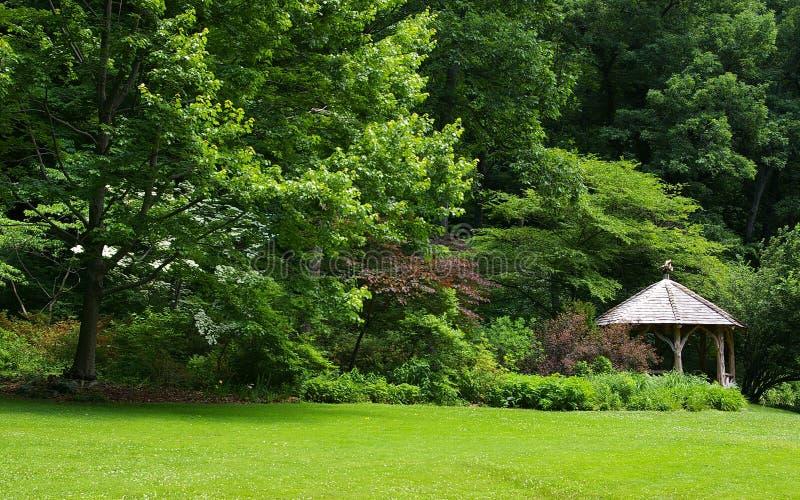 Download Woodland Rustic Gazebo stock image. Image of gazebo, pastoral - 28037761