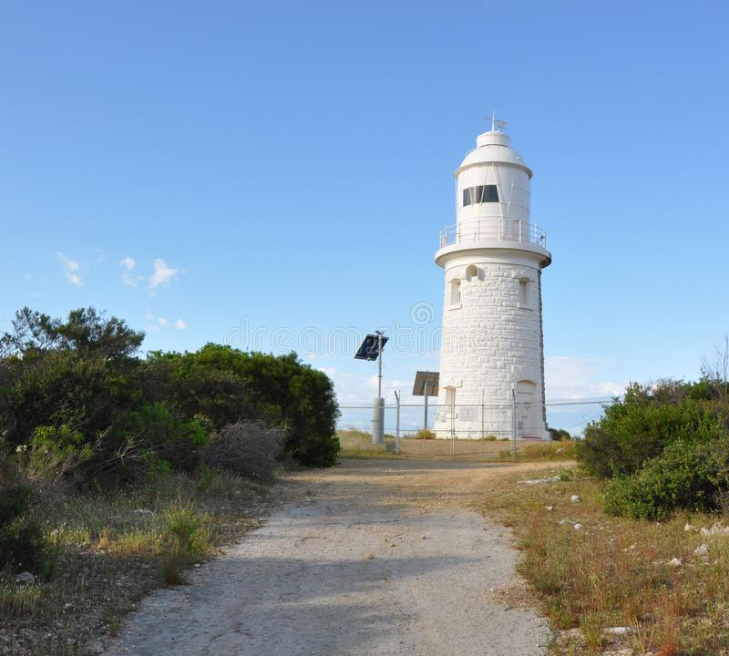 Woodman Point Lighthouse and Path in the Bush royalty free stock photography