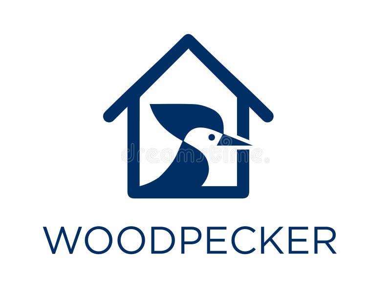 Woodpecker в доме стоковое фото rf