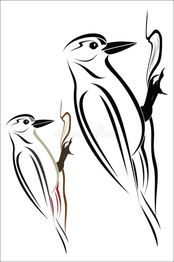 woodpecker ilustração do vetor