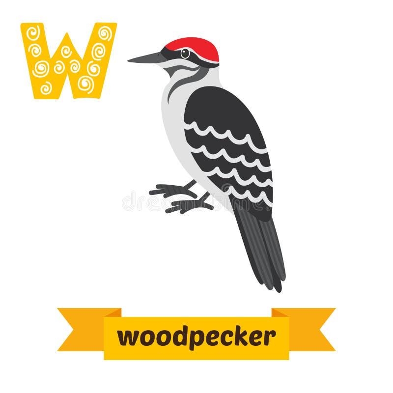 Free Woodpecker. W Letter. Cute Children Animal Alphabet In Vector. F Stock Image - 73902331