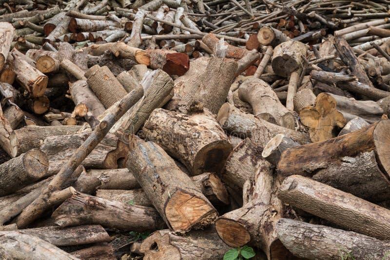 Woodpile de la madera de construcción cortada imagen de archivo libre de regalías