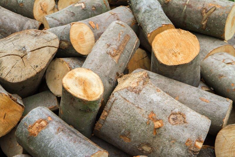 Woodpile di legna da ardere immagini stock