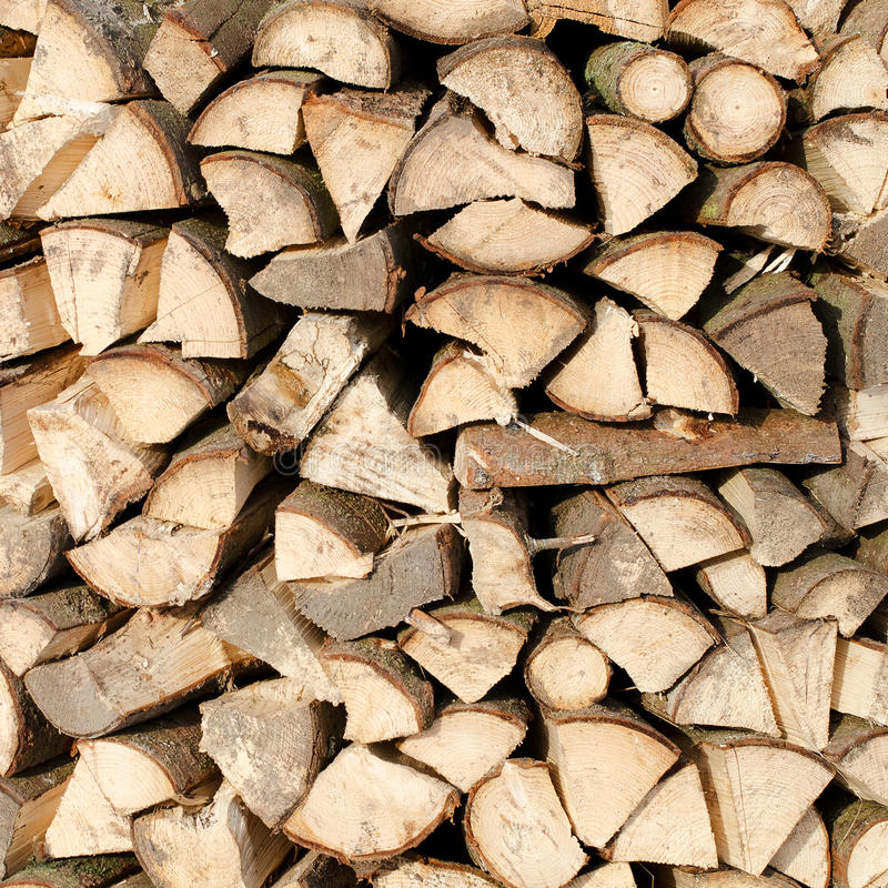 Woodpile of fire wood. As a background royalty free stock photos