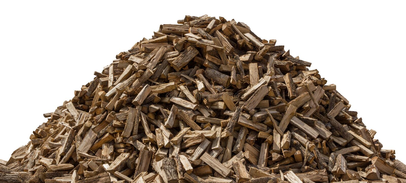 Woodpile Isolated On White Stock Photography