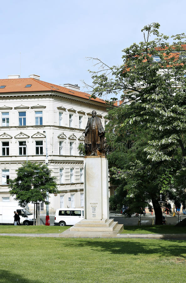 Woodrow Wilson Monument em Praga fotografia de stock royalty free