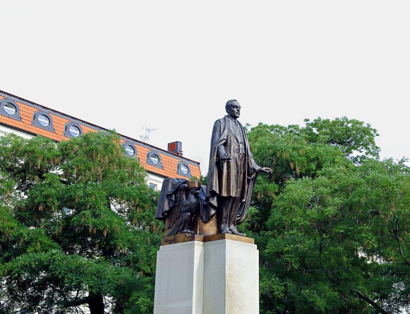 Woodrow Wilson Monument em Praga imagens de stock