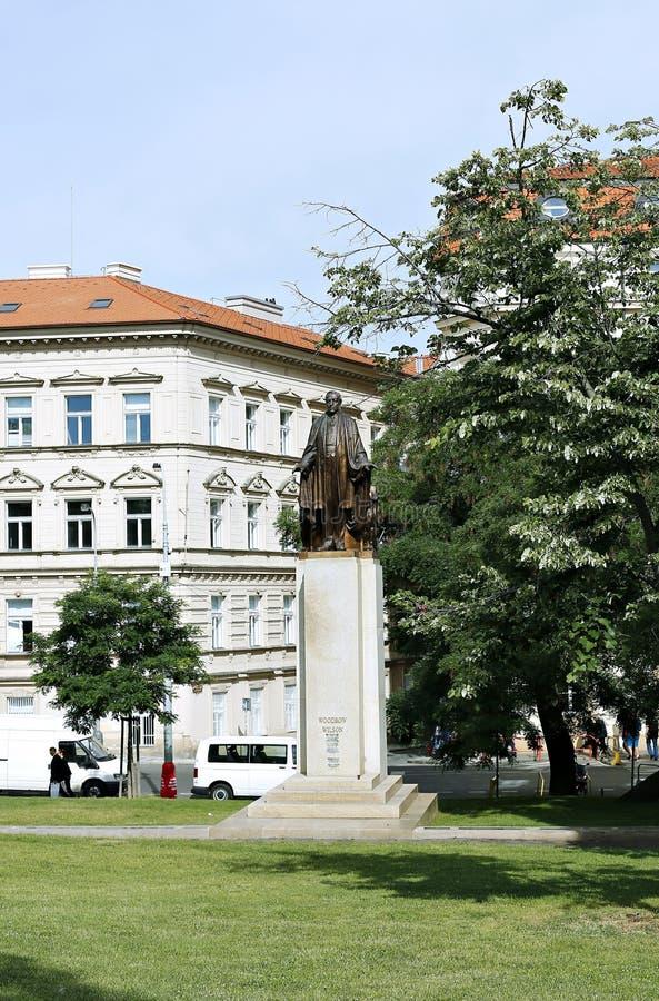 Woodrow Wilson Monument a Praga fotografia stock libera da diritti
