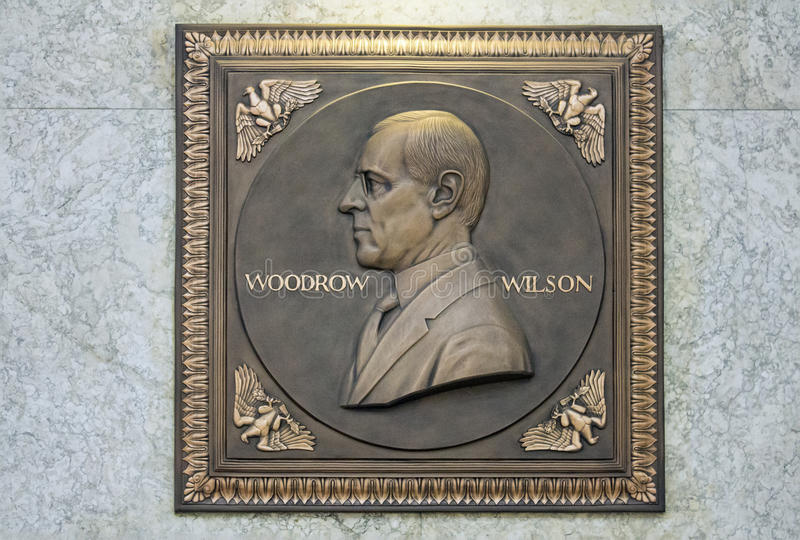 Woodrow Wilson Plaque imagem de stock royalty free