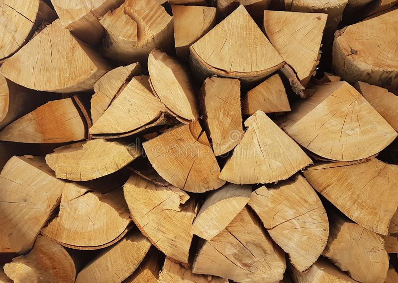 Woods for fireplace background stock photos
