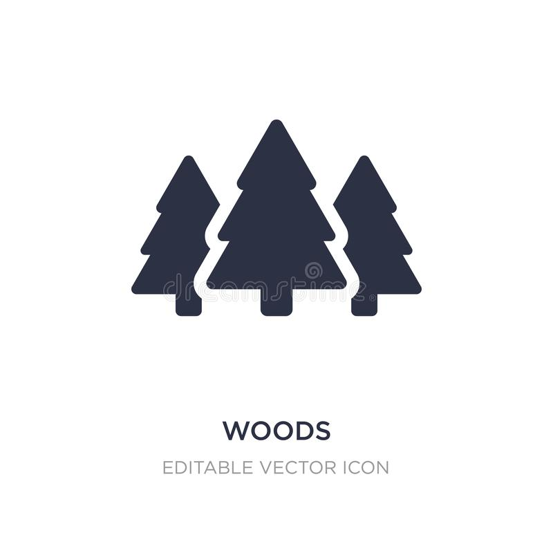 woods icon on white background. Simple element illustration from Nature concept vector illustration