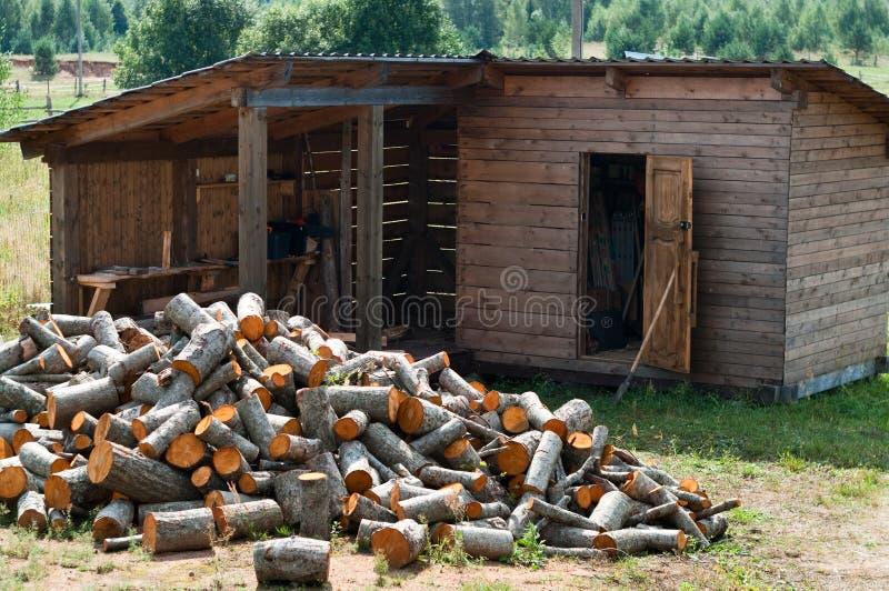Woodshed immagine stock