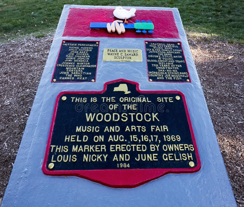 Woodstock festiwalu miejsca markier obrazy stock