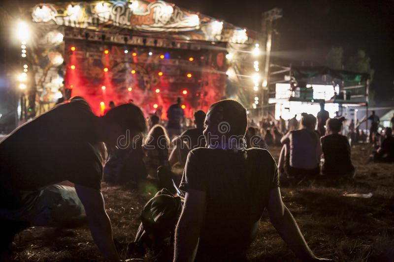 Woodstock Poland Rock festival main stage. Kostrzyn nad Odra, Poland, August 4, 2018, Woodstock Poland Rock festival main stage stock images