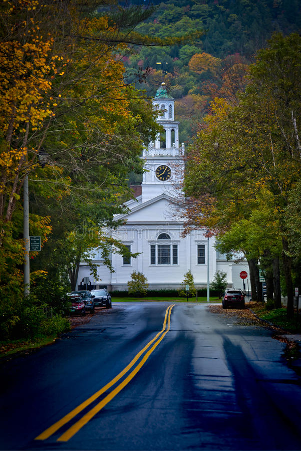 Woodstock Vermont in the Fall stock image