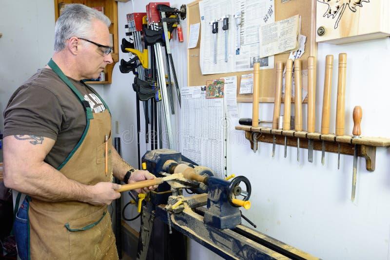 Woodturner fotografía de archivo libre de regalías