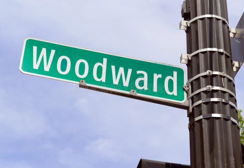 Woodward Avenue, Detroit Michigan royalty free stock photo