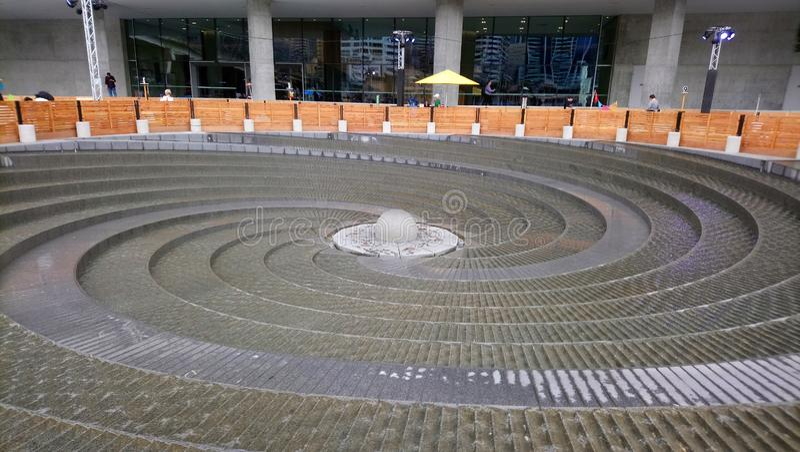 Woodward-Spiralen-Brunnen stockfotografie
