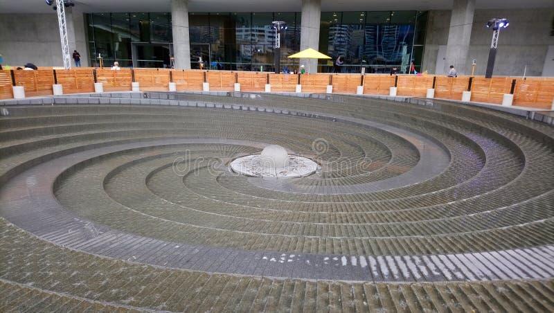 Woodward spirali fontanna fotografia stock