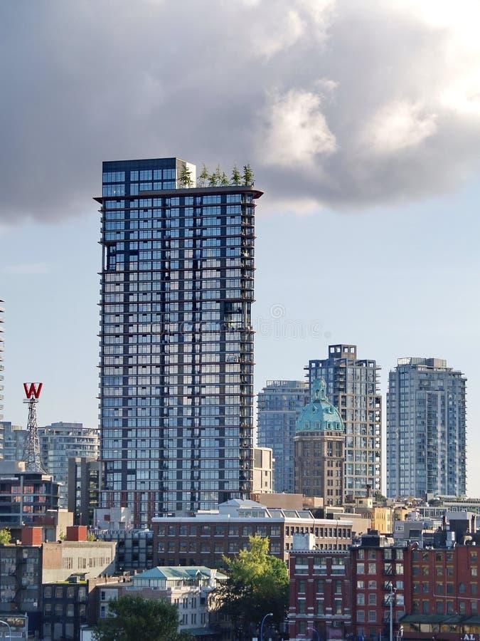 Woodwards Gebäude in Vancouver lizenzfreie stockfotos