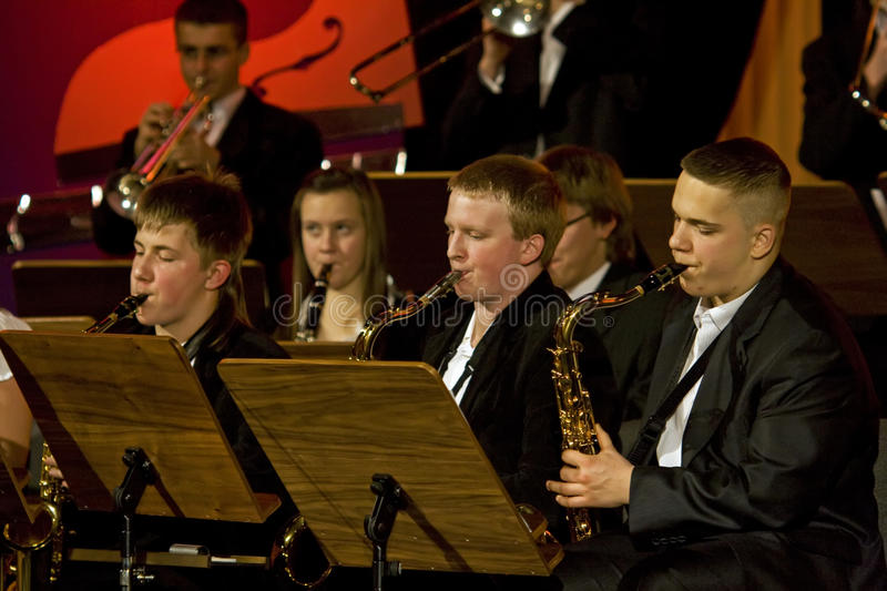 Woodwinds symphony orchestra stock photo