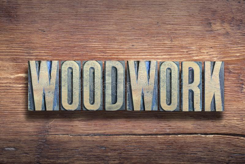 Woodwork letters wood stock image