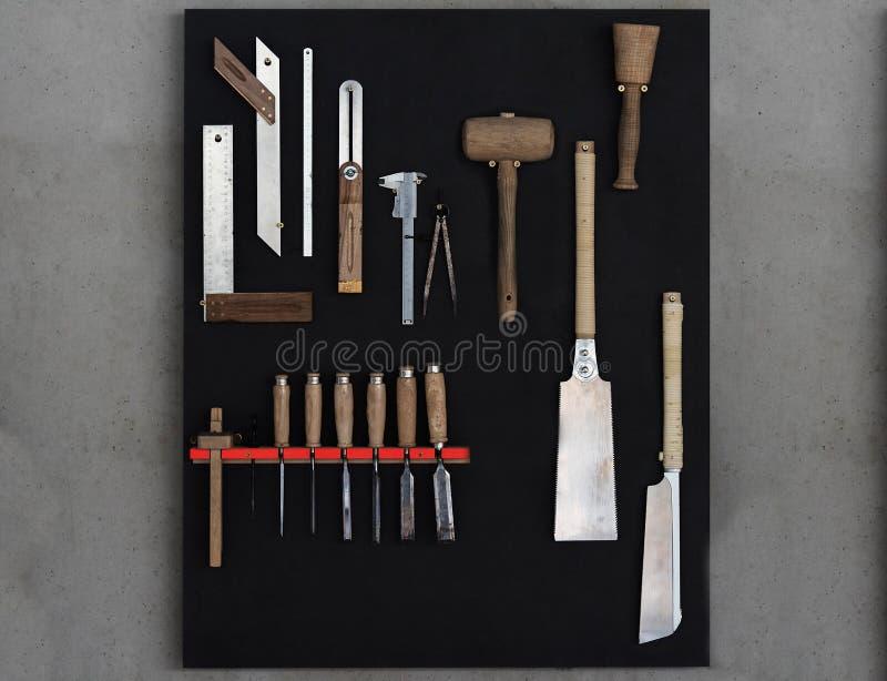 Woodwork narzędzia obraz royalty free