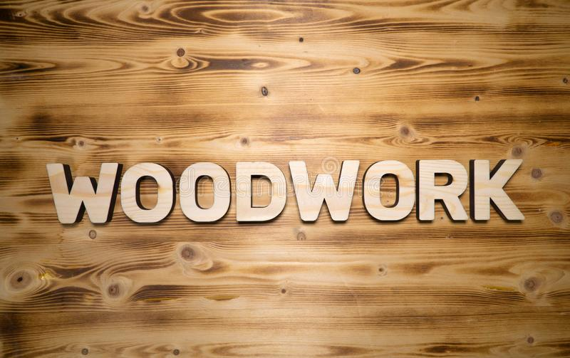 WOODWORK Word Made With Building Blocks On Wooden Board Stock Photo - Image  of material, sign: 140352808