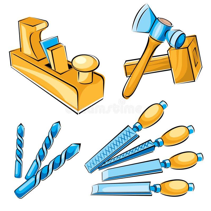 Download Woodworker hand tools stock vector. Image of hammer, recondition - 19097718