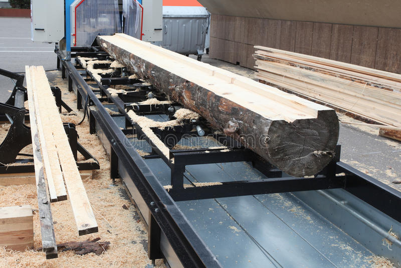 Woodworking factory stock photography