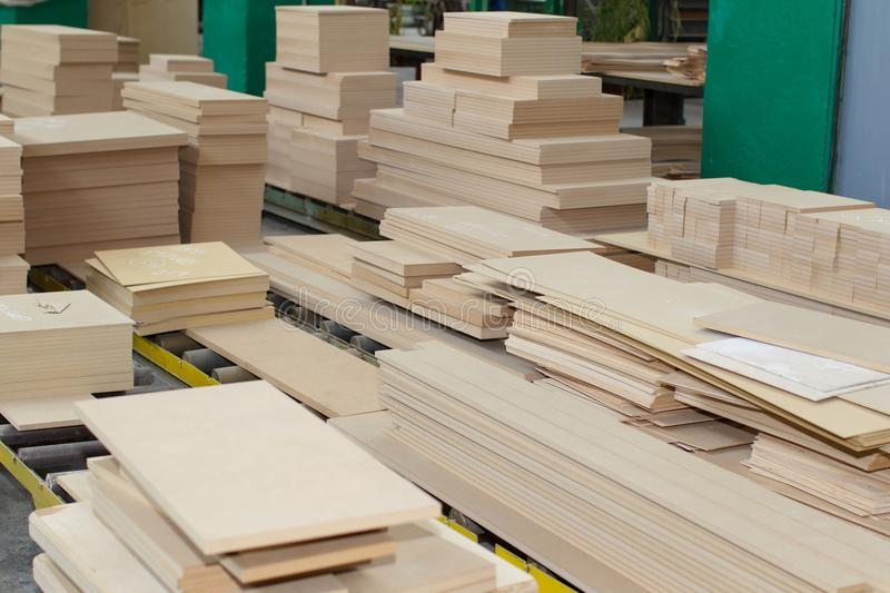 Woodworking factory stock photo