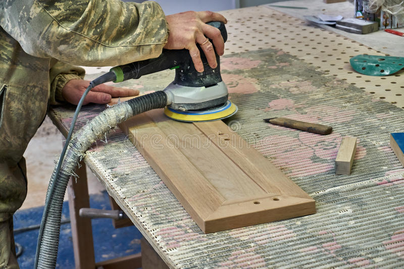 Woodworking joinery. In the carpentry shop royalty free stock photos