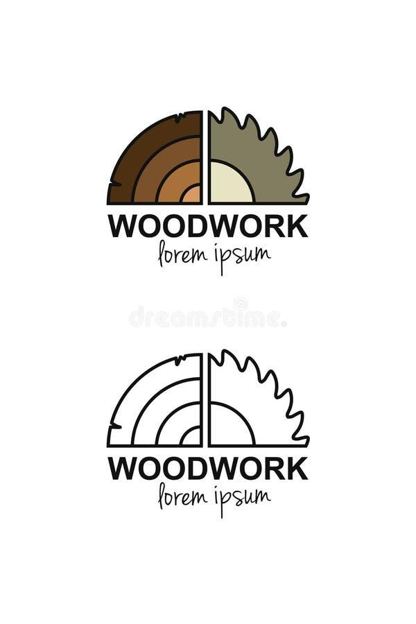 Woodworking logo pojęcie royalty ilustracja