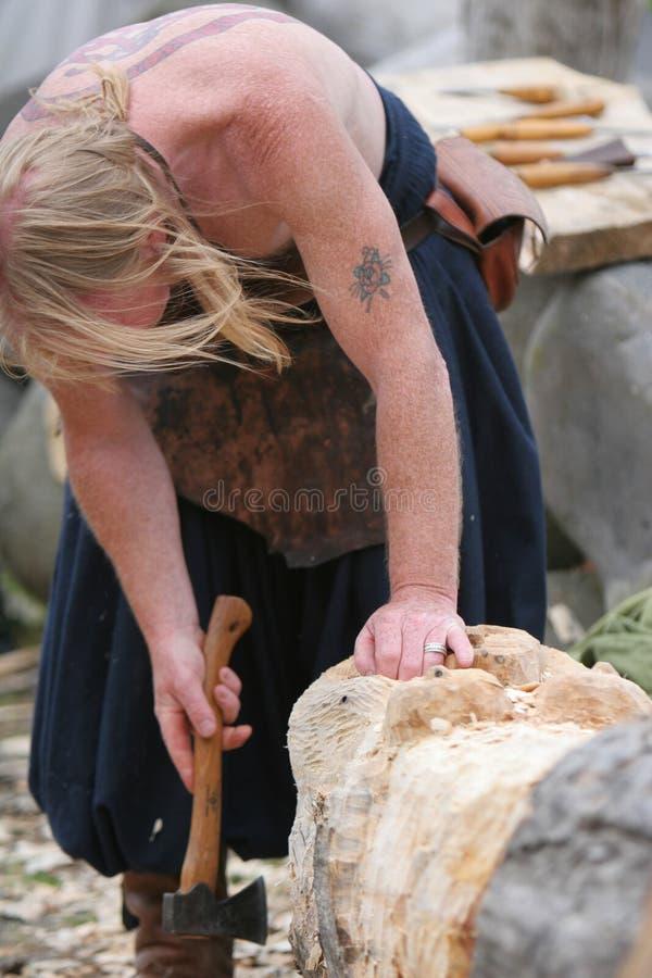 Woodworking medieval fotos de stock