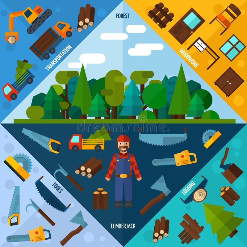 Woodworking przemysłu kąty royalty ilustracja