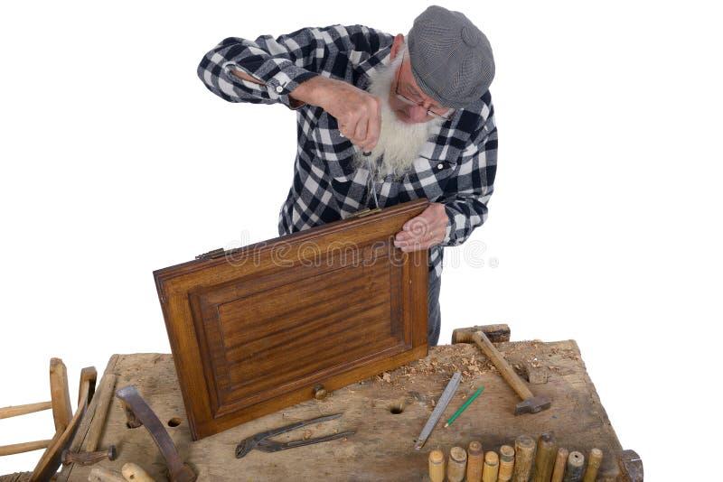 Woodworking quatro fotografia de stock royalty free