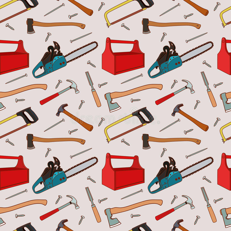 Woodworking tools pattern stock photography