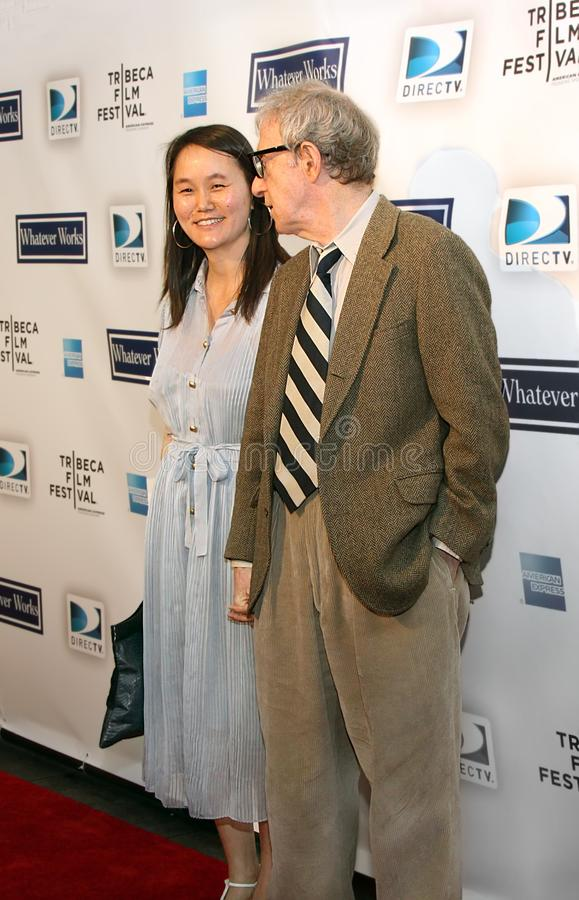 Woody Allen and Soon-Yi Previn. Actor and director Woody Allen and wife, Soon-Yi Previn, arrive for the screening of `Whatever Works,` a movie comedy by Mr stock images