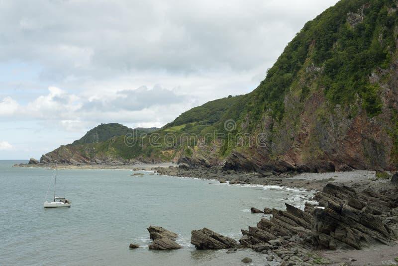 Woody Bay & Crock Point. North Devon Coast stock photos