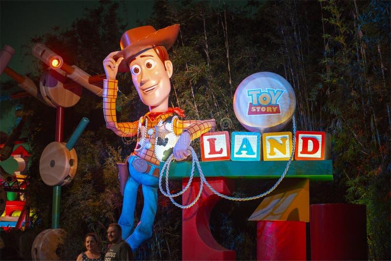 Woody, Disney World, Hollywood Studios, Travel, Florida stock photography