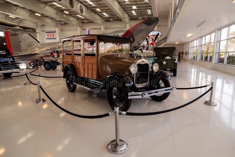 Woody Ford Model 1929 una furgoneta imagen de archivo libre de regalías