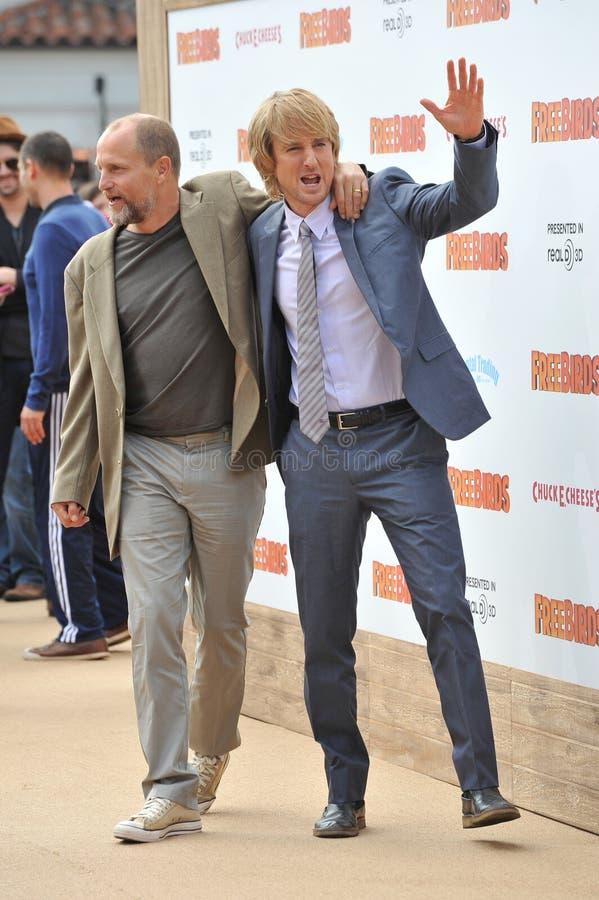 Woody Harrelson & Owen Wilson stock fotografie