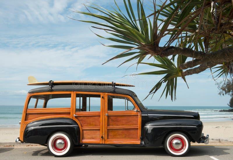 Woody-Lastwagen lizenzfreie stockbilder