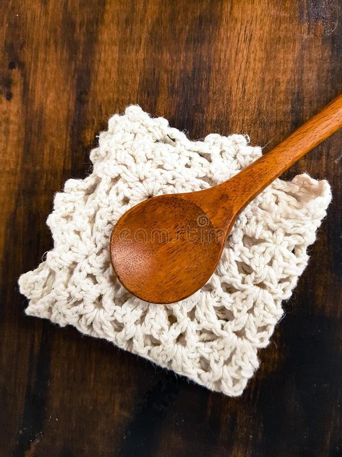 Woody spoon royalty free stock image