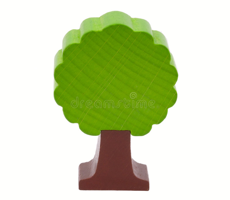 Woody toy tree stock photography