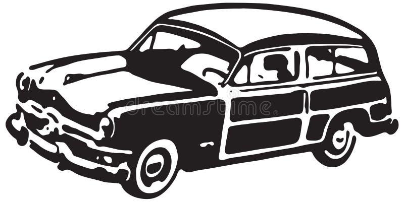Woody Wagon ilustração royalty free