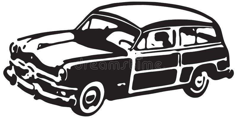 Woody Wagon lizenzfreie abbildung