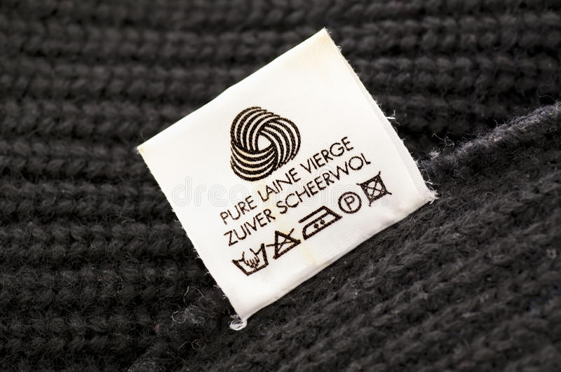Wool care symbol. Close up stock photos