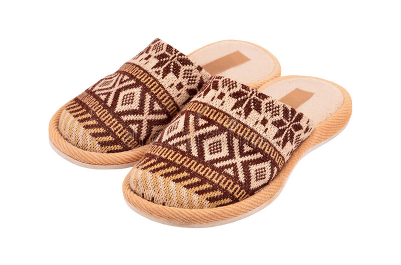 Wool Comfortable Slipper Stock Images