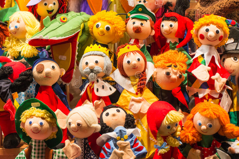 Wool dolls royalty free stock photography